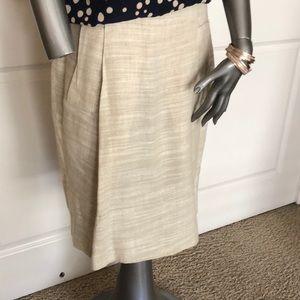 Zara Basic Linen Blend Skirt